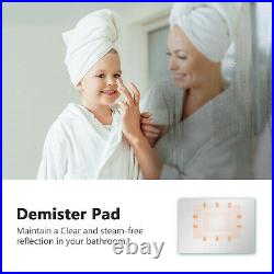 Illuminated Bathroom Mirror with Backlit LED Lights Touch, Demister Wall Mounted