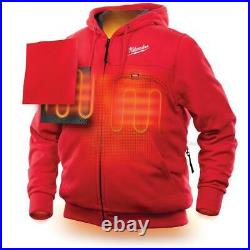 Men's large m12 12-volt lithium-ion cordless red heated hoodie (hoodie only)